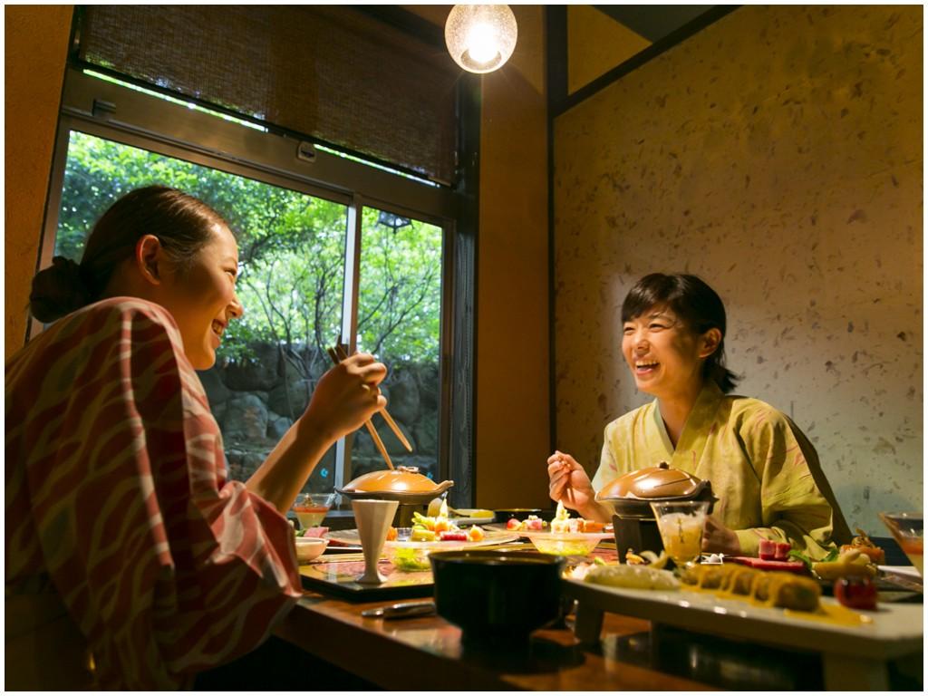 旅館吉田屋の懐石ディナーコース&温泉入浴セット