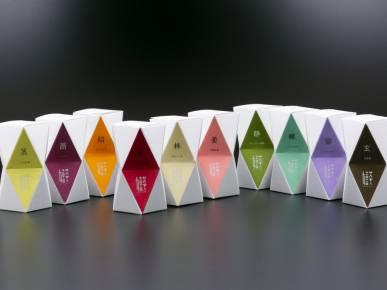 ショップ商品|ポップなカラーがとても可愛いオリジナルの嬉野茶。パッケージ色ごとにお茶の味が異なります!