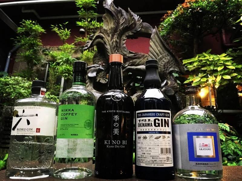COFFEY GINや芋焼酎、泡盛の名酒造が作るジンをそろえております。※その他海外のクラフトジンも多数有