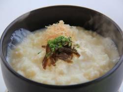 【食事】温泉湯どうふ雑炊