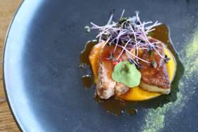 鴨胸肉のロティ~フォアグラ、南瓜、嬉野抹茶~