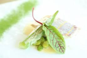 本日の鮮魚のポワレ~生姜vinblanc、夏野菜~