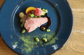 肥前さくらポークのロティ ~山葵vin rouge、季節野菜、嬉野茶塩~
