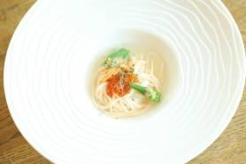 神埼素麺のナージュ仕立て~イクラ、生ウニ、オクラ~