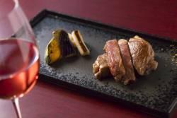 肉料理:佐賀牛ステーキ 揚げ野菜