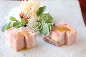 若楠豚の自家製ハム 新玉葱