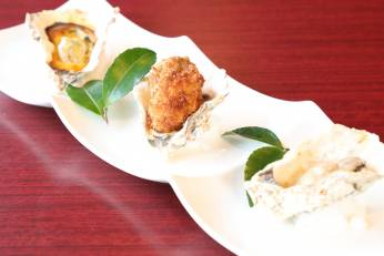 牡蠣三種の味覚