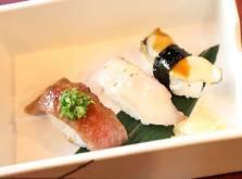 お食事:本日の旬肴と佐賀牛の江戸前寿司 金目鯛 鮑 佐賀牛