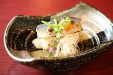 鮎素麺  白髪葱 赤おろし 花穂