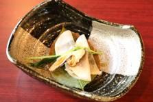 先付:炙り〆鯖の小柚 焼き松茸