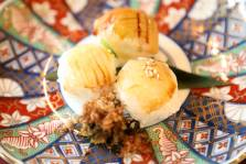 手毬寿司三種 赤貝 鯛 烏賊