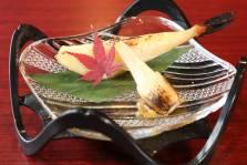 河豚の味噌焼き エシャレット酢漬け