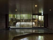 露天風呂が付いた大浴場「熊野湯」