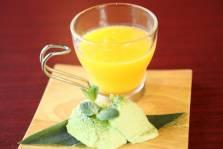 フルーツスープと抹茶ババロア