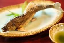 鮎の塩焼き 蓼酢
